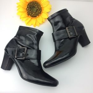 Women's Nickels 8.5 Heel Zipper Black Ankle Boot